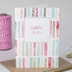 'Birthday Wishes' Gold Foil Card - birthday cards