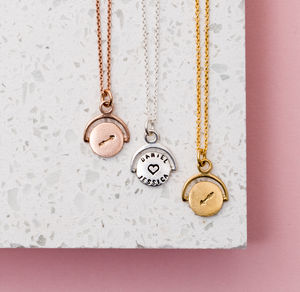 Personalised Love Arrow Spinning Necklace - valentine's gifts for her