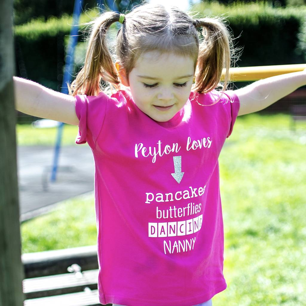 My Favourite Things Personalised Childrens T Shirt