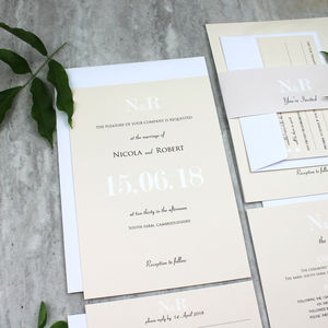Traditional Champagne Classic Wedding Invitation - order of service & programs