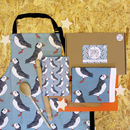 Kitchen Apron, Tea Towel And Notebook Cooks Gift Set