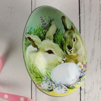 Traditional Bunny Easter Egg Gift Tin