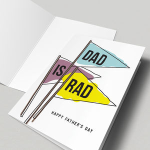 'Dad Is Rad' Father's Day Card