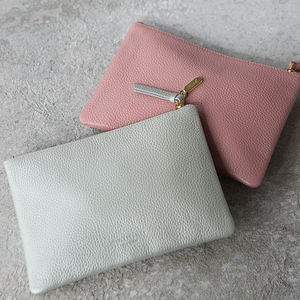 Personalised Leather Clutch Bag Or Cosmetic Purse - gifts for friends