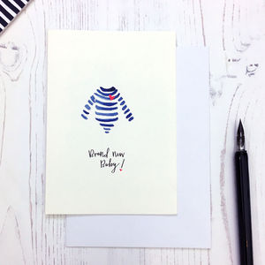 Breton Design New Baby Card - new baby cards