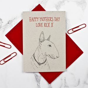 Bull Terrier Mother's Day Card