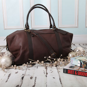 Personalised Supersize Leather Holdall - women's sale