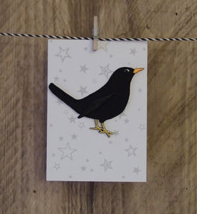 Blackbird Iron On Patch - creative kits & experiences