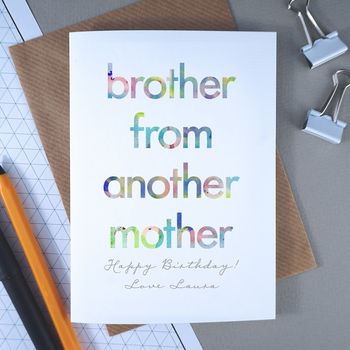 Brother From Another Mother | Birthday Card