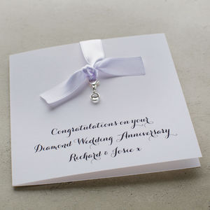 Swarovski Diamond Birthstone Anniversary Card - personalised jewellery