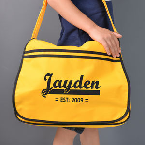 Personalised Yellow Retro Messenger Bag - boys' bags & wallets