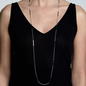 Sterling Silver And 18ct Gold Vermeil Long Caj Necklace