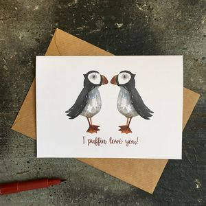 Puffin Love Romantic Card