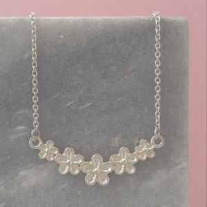 Five Flower Garland Necklace