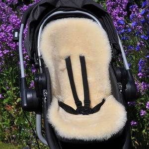 Baa Baby Pram And Stroller Lambskin Liner Honey