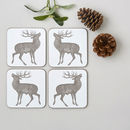 Stag Coaster Set