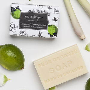Lemongrass And Lime Organic Soap - summer sale