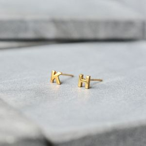 Little Letter Earrings - earrings