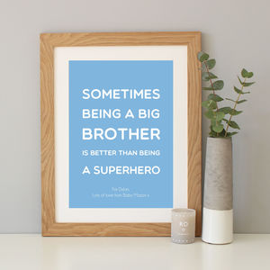 Superhero Brother Quote Print - sale