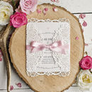 Alice Vintage Inspired Laser Cut Wedding Invite