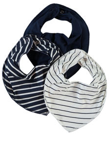 Newborn Three Pack Bib Scarf - bibs