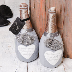 Champagne Novelty Fabric Doorstops