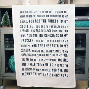 Christmas Tea Towel - cooking & food preparation