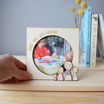Personalised Daddy Or Grandad Photo Frame