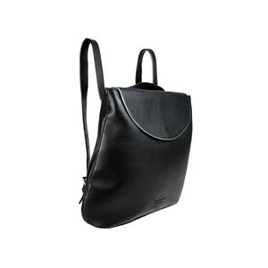 Two Way Black Leather Backpack And Shoulder Bag