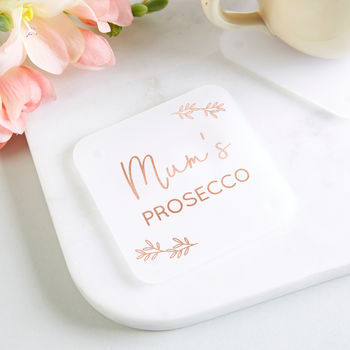 Prosecco Gift Personalised Foil Coaster