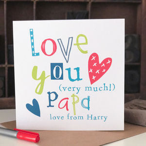 Personalised Father's Day Card For Papa - father's day cards