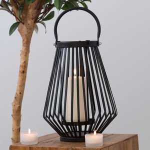 Hurricane Candle Lantern White Or Black Two Colours - room decorations