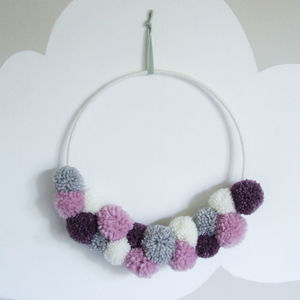 Pom Pom Half Wreath - decorative accessories