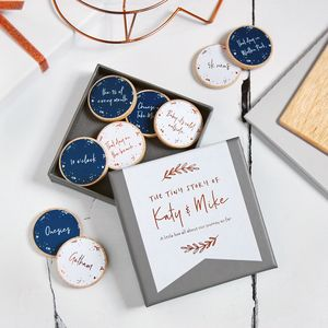 Personalised The Tiny Story Of Us Foiled Tokens - home accessories