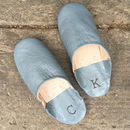 Mens Personalised Babouche Slippers