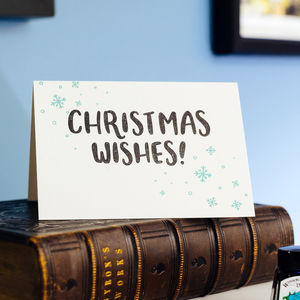 Christmas Wishes Letterpress Christmas Card - cards