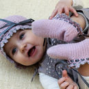 Hand Crochet Organic Baby Hat And Booties