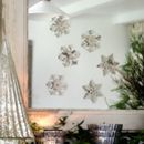 Set Of Two Silver Snowflake Window Decorations