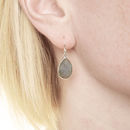 Ashiana Labradorite Earrings In Silver