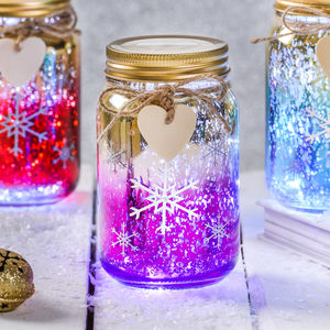 Christmas Snowflake LED Ombre Jar - winter sale