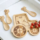 Personalised Tractor Bamboo Plate