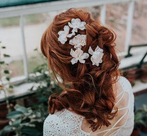 Evelyn Delphinium Hair Pin - bridal hairpieces