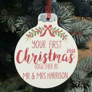 Personalised Christmas Words Hanging Decoration - personalised