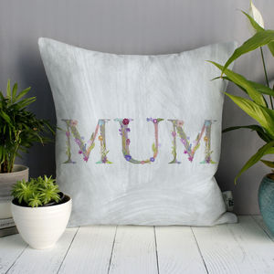 Personalised Floral Mother's Day Cushion - winter sale