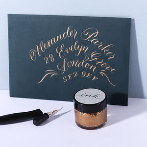 Copper Calligraphy Ink - on trend: copper
