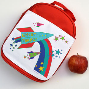 Personalised Lunch Bag Rockets