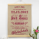 Personalised Linen Anniversary Print