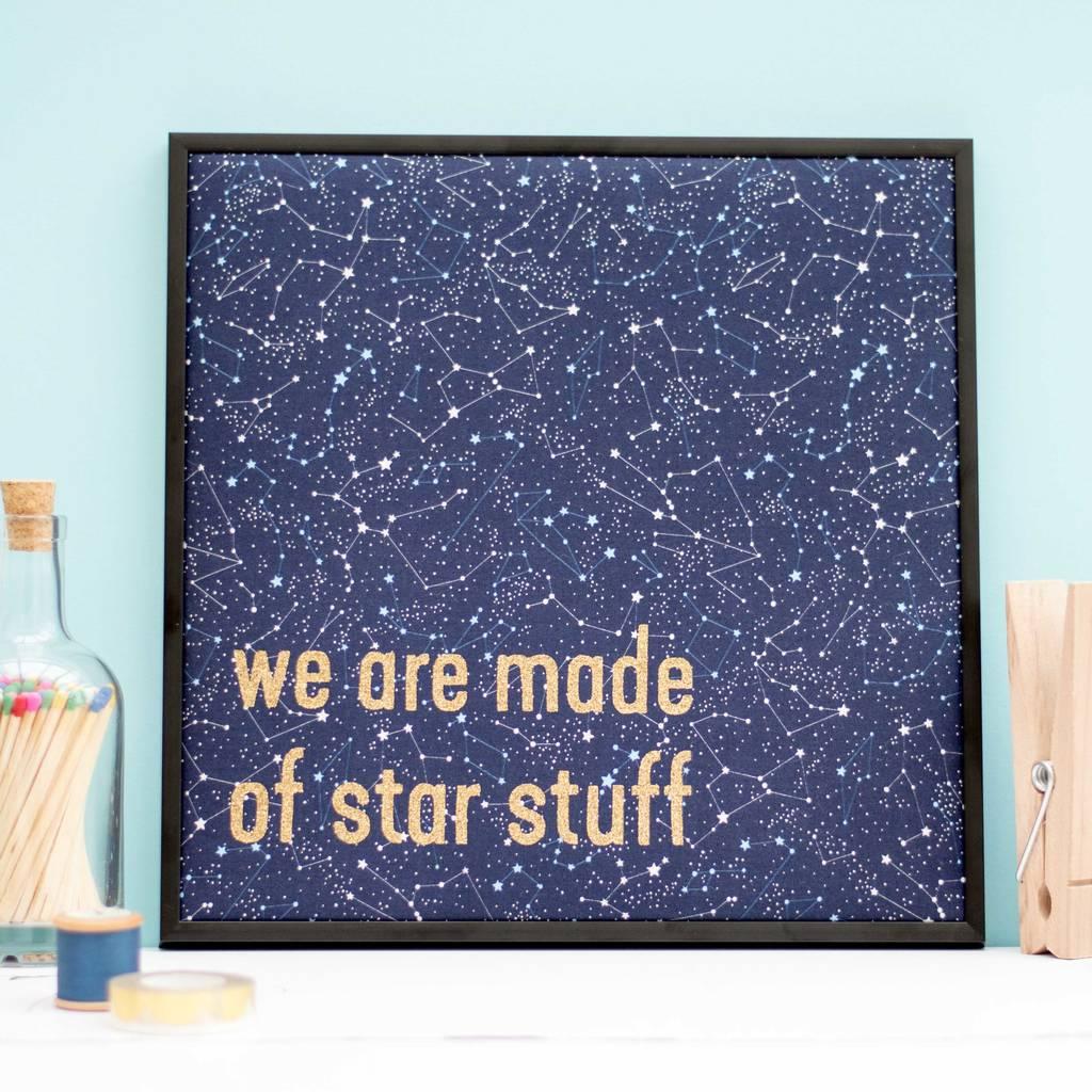 Star Stuff Framed Textile Artwork
