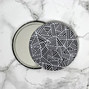 Monochrome Marks Pattern Pocket Mirror