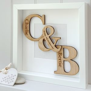 Wedding Oak Initials Artwork
